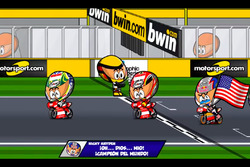 El final del GP de Valencia 2006, por 'MiniBikers'
