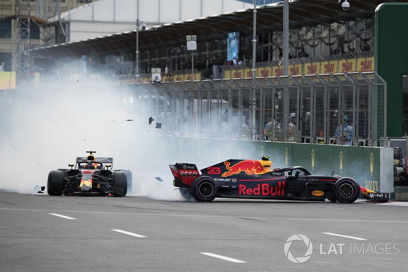 GP de Azerbaiyán: Choque con Ricciardo y desastre para Red Bull