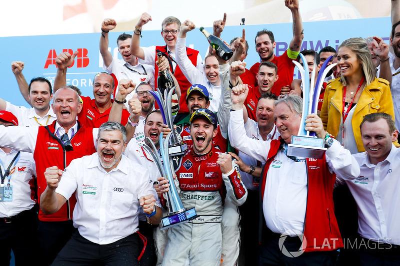 Podio: segundo lugar Lucas di Grassi, Audi Sport ABT Schaeffler, ganador de la carrera Daniel Abt, Audi Sport ABT Schaeffler