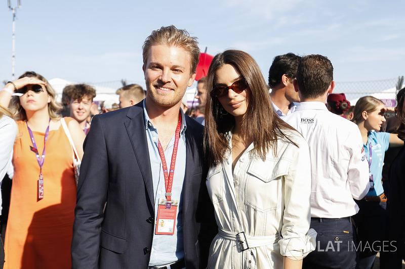 Nico Rosberg, Formula 1 World champion, Formula E investor, with Model Emily Ratajkowski