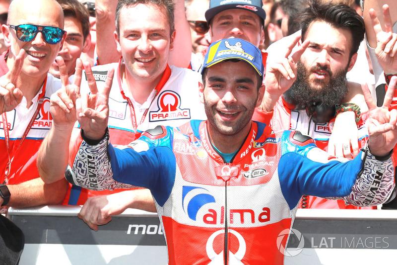 Il secondo classificato Danilo Petrucci, Pramac Racing