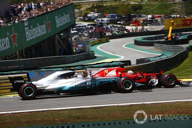 Segundo do grid, Vettel superou Bottas já na primeira curva