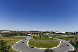 Fernando Alonso, McLaren MCL32, Sergio Perez, Sahara Force India F1 VJM10, Daniel Ricciardo, Red Bull Racing RB13