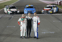 Тед Бьорк, Polestar Cyan Racing, Норберт Михелис, Honda Racing Team JAS, и Том Чилтон, Sébastien Loeb Racing