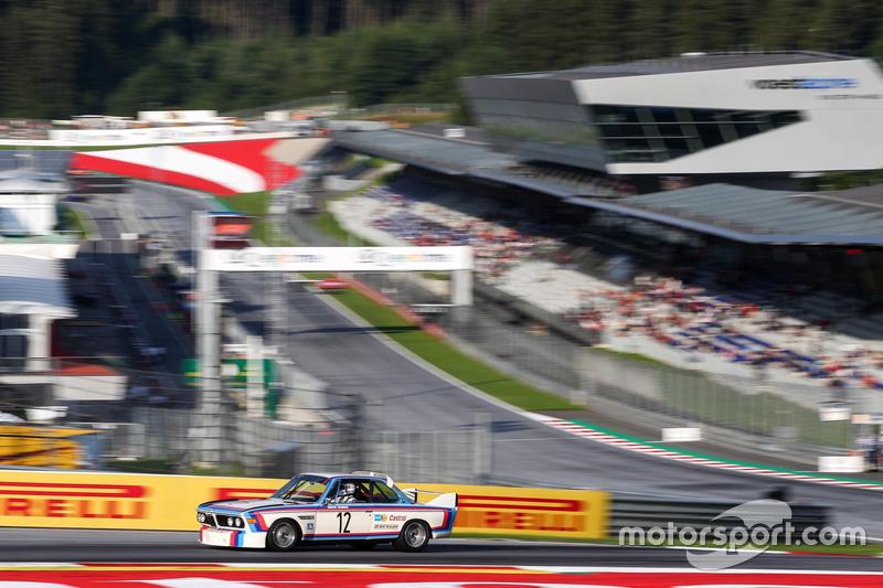 Toine Hezemans, BMW 3.0 CSL lors de la parade des légendes