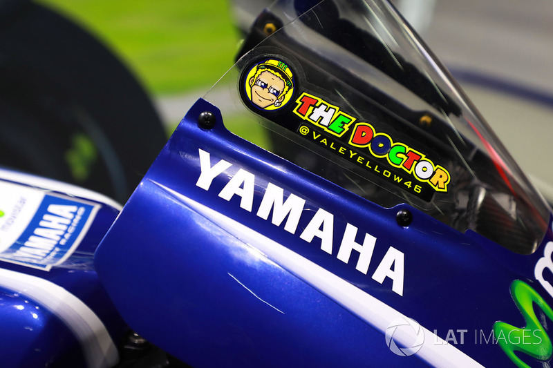 Logo on the bike of Valentino Rossi, Yamaha Factory Racing