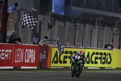 Checkerd flag for Jonathan Rea, Kawasaki Racing