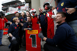 Race winner #8 Octane 126 Ferrari 488: Fabio Leimer with the team