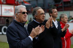 Piero Lardi Ferrari, vicepresidente de Ferrari y Sergio Marchionne, CEO FIAT Chrysler Automobiles