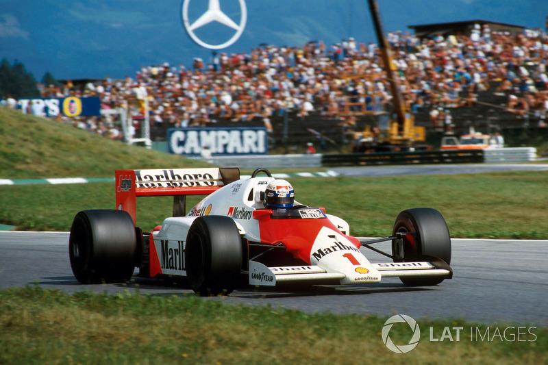 1986 : McLaren MP4/2C, à moteur TAG Porsche