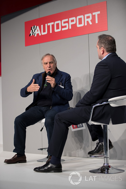 Giorgio Piola talks to Henry Hope-Frost on the Autosport stage