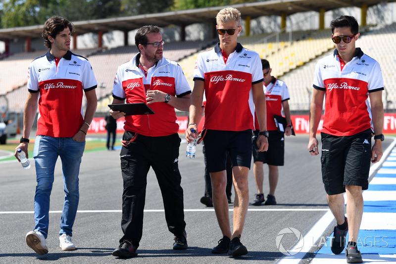 Marcus Ericsson, Sauber, recorre la pista