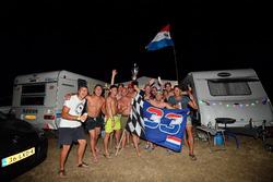 Des fans de Max Verstappen, Red Bull Racing au camping