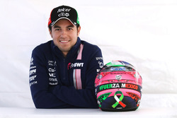 Sergio Perez, Sahara Force India F1 with his new helmet
