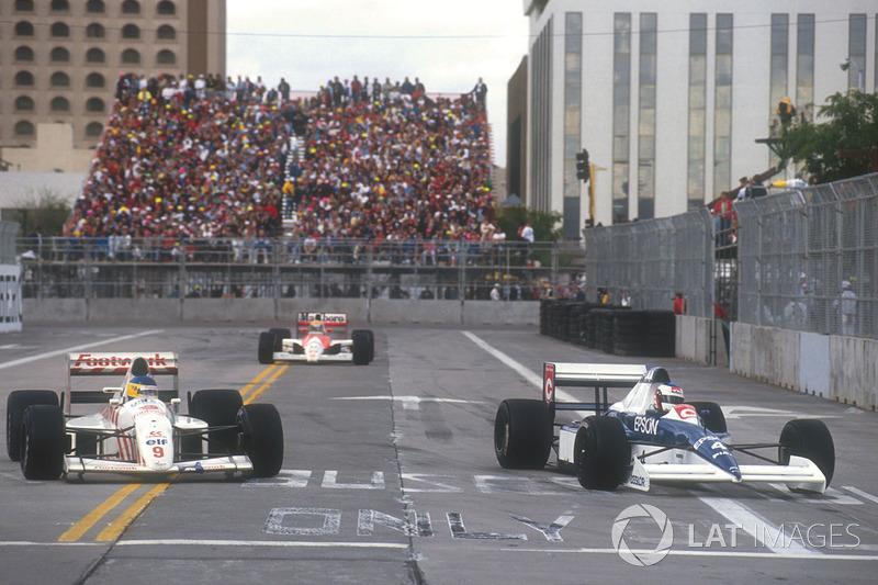 Жан Алезі, Tyrrell 018 Ford, Айртон Сенна, Mclaren MP4/5B, Мікеле Альборето, Arrows A11B Ford
