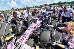 Esteban Ocon, Force India VJM11 on the grid