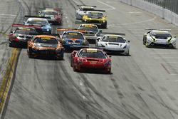 #61 R.Ferri Motorsport Ferrari 488 GT3: Toni Vilander, #2 CRP Racing Mercedes-AMG GT3: Daniel Morad, #31 TR3 Racing Ferrari 488 GT3:: Daniel Mancinelli