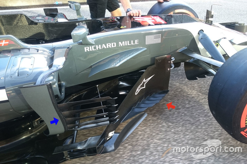 Haas F1 Team VF-17 bargeboards