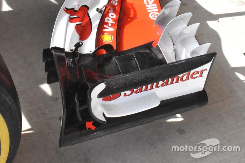 Детали переднего крыла Ferrari SF70H