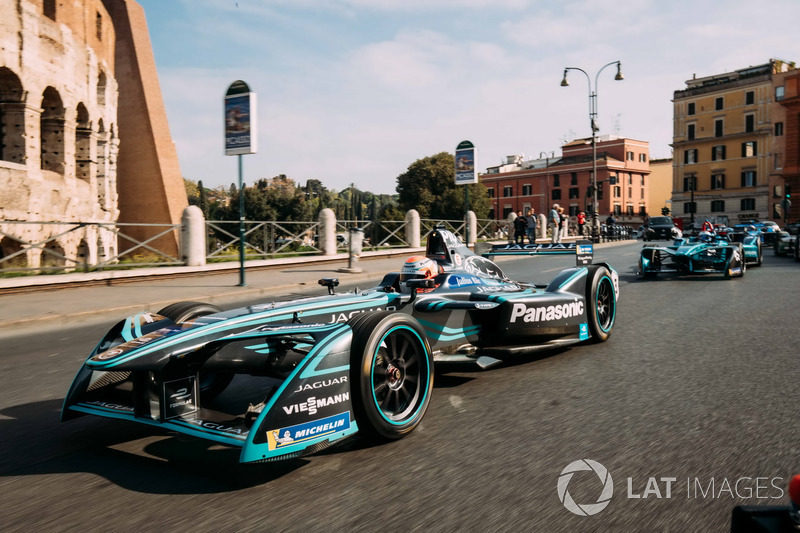 Nelson Piquet Jr., Jaguar Racing y Luca Filippi, NIO Formula E Team
