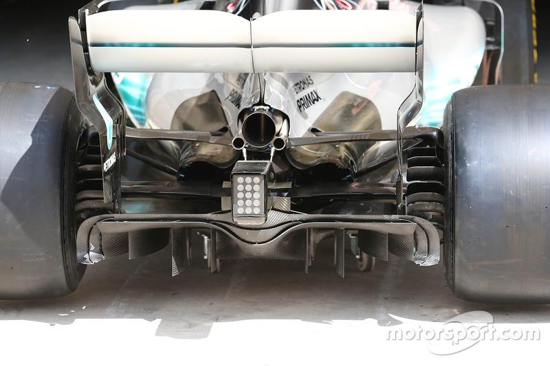 Difusor del Mercedes AMG F1