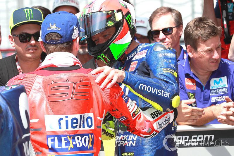 Jorge Lorenzo, Ducati Team, Valentino Rossi, Yamaha Factory Racing, Italian MotoGP 2018