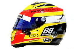 The helmet of Rio Haryanto, Manor Racing