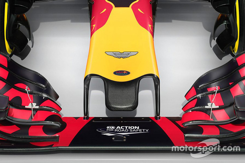 Detail Nase, Red Bull Racing RB12 mit Aston Martin - Logo