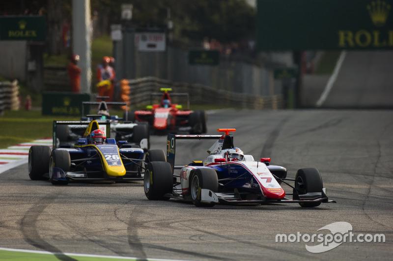 Giuliano Alesi, Trident leads Santino Ferrucci, DAMS