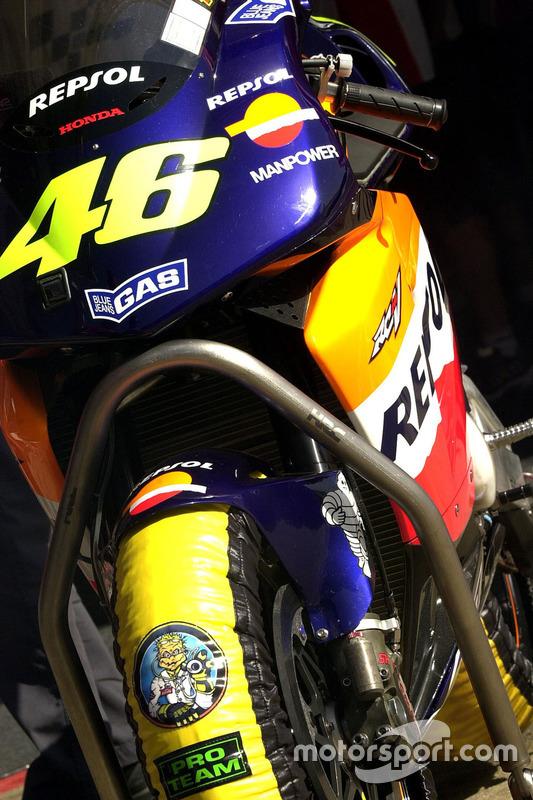 Valentino Rossi, Honda Team bike detail
