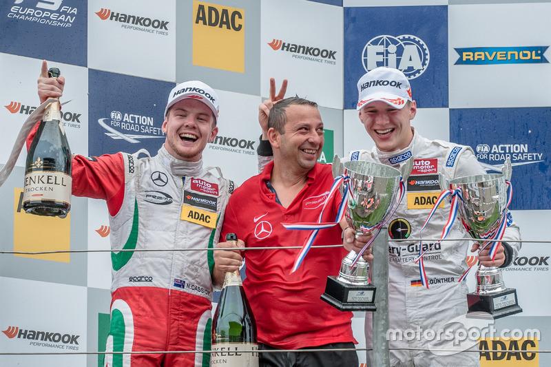 Podium, Nick Cassidy, Prema Powerteam Dallara F312 - Mercedes-Benz, Maximilian Günther, Prema Powert