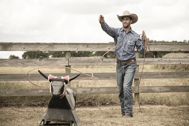 Daniel Ricciardo, Red Bull Racing, auf einer Farm in Austin