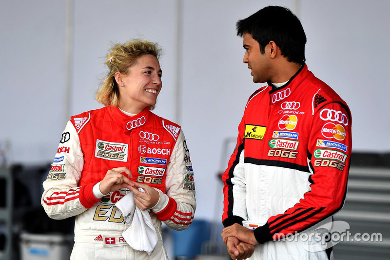 Rahel Frey, Castrol Racing Team; Aditya Patel, Team Audi R8 LMS Cup