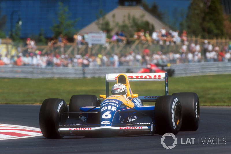 7. El Williams FW14 Renault de Fórmula 1