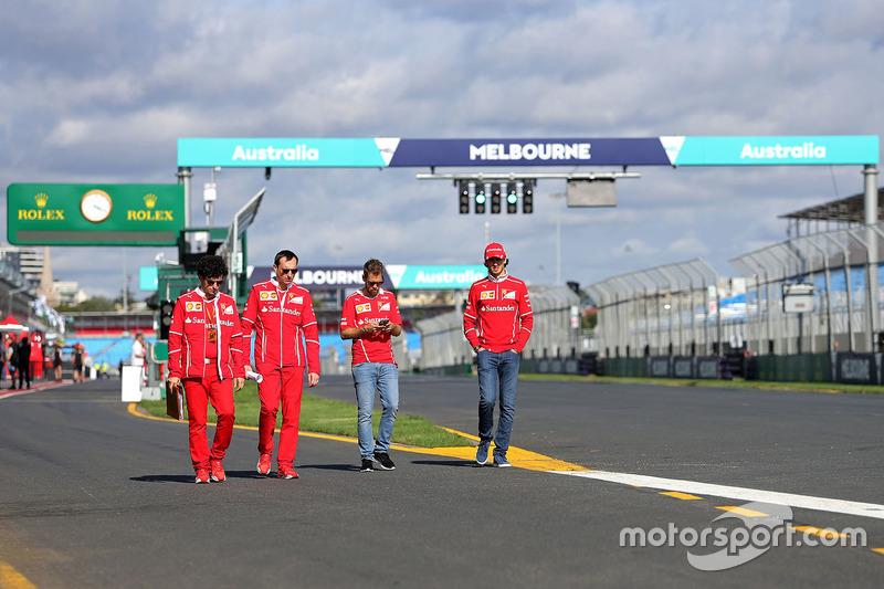 Trackwalk: Sebastian Vettel, Ferrari