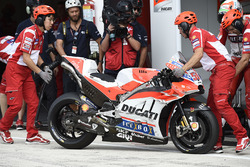 Michele Pirro, Ducati Team flat front tyre after crash
