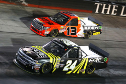 Justin Haley, GMS Racing Chevrolet and Cody Coughlin, ThorSport Racing Toyota