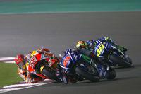 Maverick Viñales, Yamaha Factory Racing; Marc Marquez, Repsol Honda Team; Valentino Rossi, Yamaha Factory Racing