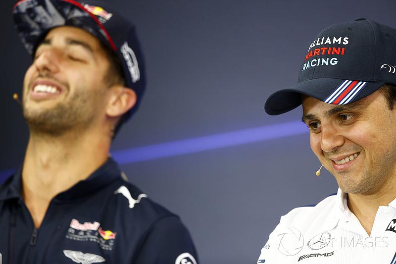 Даніель Ріккардо, Red Bull Racing, Феліпе Масса, Williams