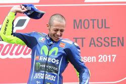 Podium : le vainqueur Valentino Rossi, Yamaha Factory Racing