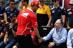 Sebastian Vettel, Ferrari and Jean Todt, FIA President