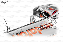 McLaren MP4-23 2008 chassis fin