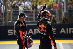Max Verstappen, Red Bull Racing and Daniel Ricciardo, Red Bull Racing celebrate in parc ferme