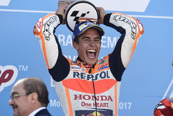 Podium: Race winnaar Marc Marquez, Repsol Honda Team