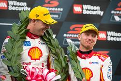 Podium: second place Scott McLaughlin, Team Penske Ford, Alexandre Prémat, Team Penske Ford