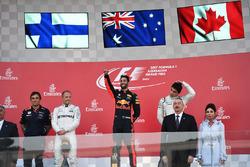 1. Daniel Ricciardo, Red Bull Racing, Pierre Wache, Red Bull Racing, Valtteri Bottas, Mercedes AMG F1, Lance Stroll, Williams