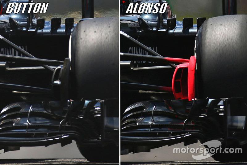Дженсон Баттон, McLaren MP4-31, Фернандо Алонсо, McLaren MP4-31 порівняння