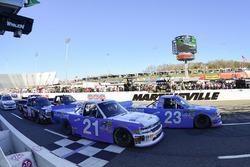 Restart: Chase Elliott, GMS Racing, Chevrolet; Johnny Sauter, GMS Racing, Chevrolet