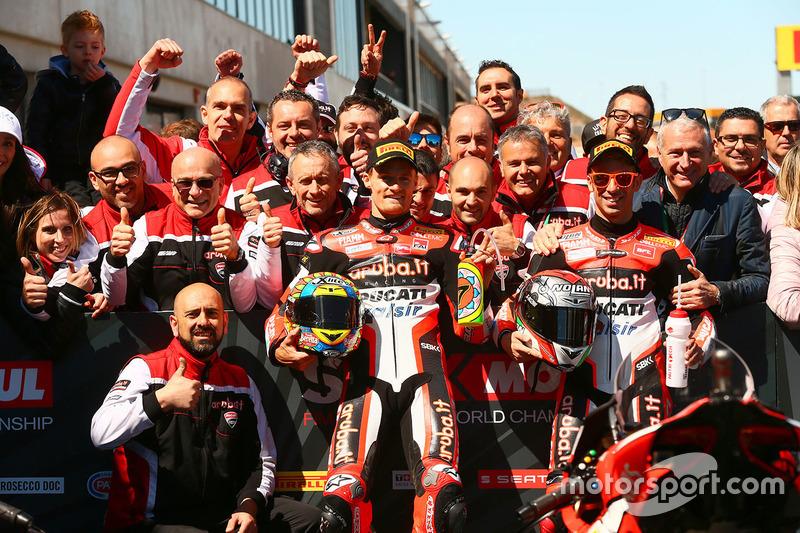 Ganador de la carrera, Chaz Davies, Ducati Team