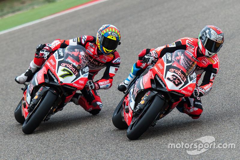 Marco Melandri, Ducati Team; Chaz Davies, Ducati Team